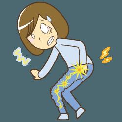 宝塚市で膝痛でお悩みの方坐骨神経痛イラスト