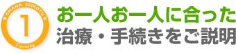 宝塚市逆瀬川駅おはな整骨院はお一人お一人にあった治療・手続きをご説明します
