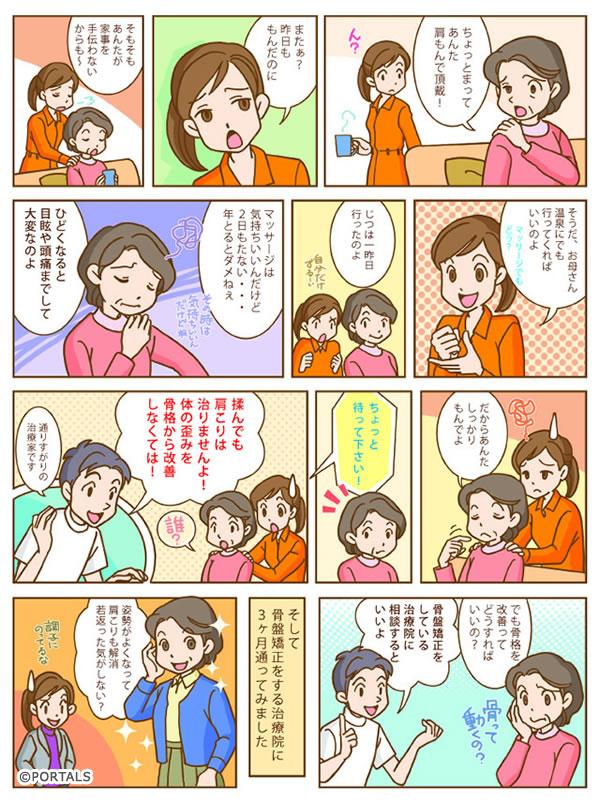 宝塚市肩こり頭痛マンガコミック